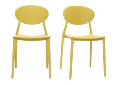 Sedie Design Prezzi Bassi.Lotto Di 2 Sedie Design Giallo In Polipropilene Anna