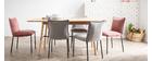 Lotto di 2 sedie design in velluto grigio SOLACE
