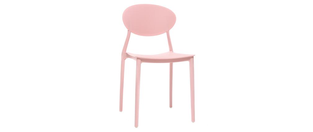 Lotto di 2 sedie design Rosa in polipropilene ANNA