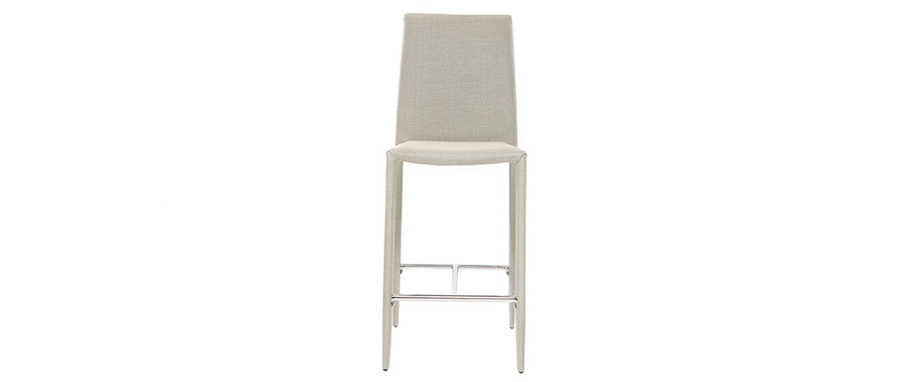 Lotto di 2 sgabelli / sedie da bar design Grigio chiaro TALOS