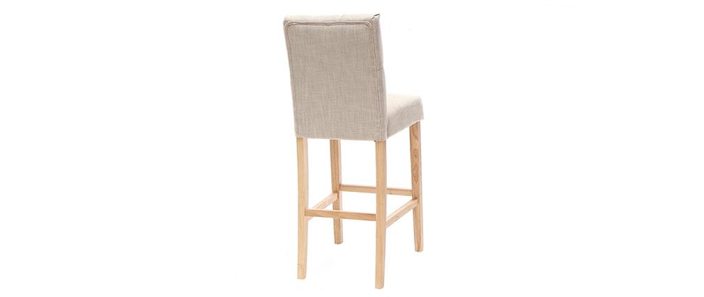 Lotto di 2 sgabelli/sedie da bar in tessuto Naturale 75cm RIVOLI