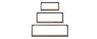 Lotto di 3 mensole da parete forma rettangolare in metallo Nero e Mango YPSTER