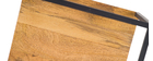 Lotto di 3 mensole da parete in metallo Nero e Mango forma quadrata YPSTER