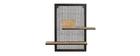 Mensola a muro doppia in metallo e mango massiccio H60 cm RACK