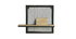Mensola a muro industriale metallo e mango massiccio L50cm RACK