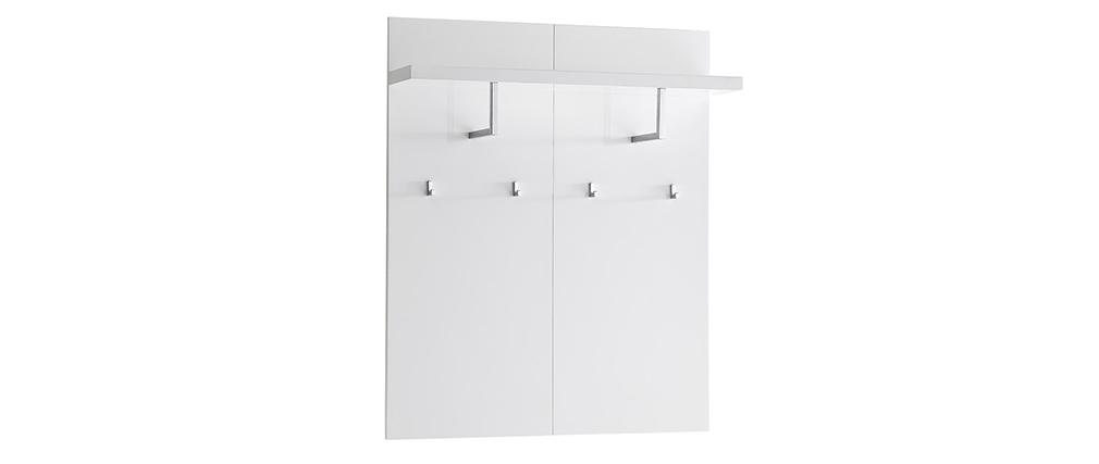 Mensola da parete con appendiabiti bianco laccato L102 cm WELCOME
