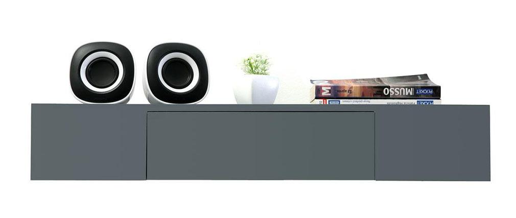 Mensola design colore grigio con cassetto YZA - Miliboo
