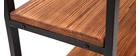 Mensola industriale metallo e legno ARISTOTE