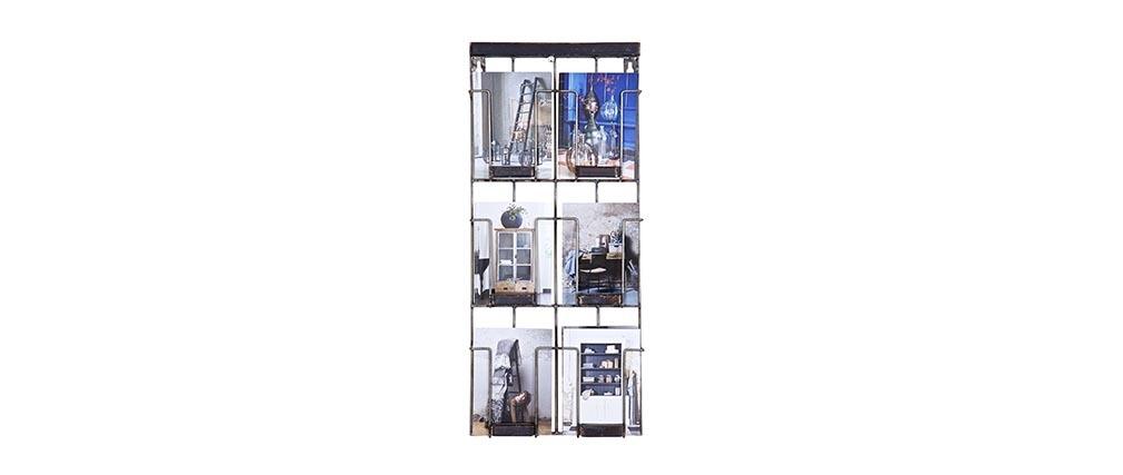 Mensola industriale verticale nera FACTORY