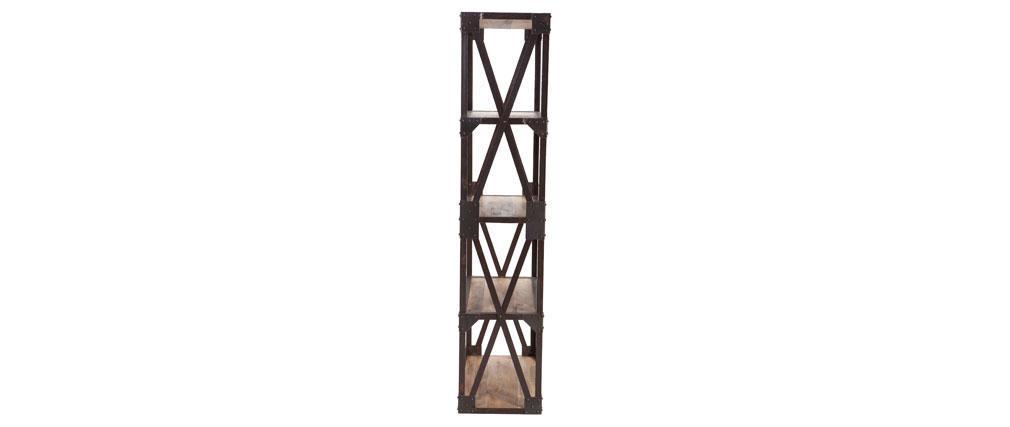 Mensola - libreria stile industriale in metallo e legno ATELIER