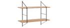 Mensola murale design legno e metallo BRIDGE