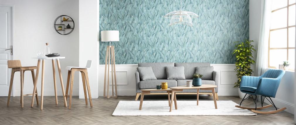 Mensola murale design rotonda legno e metallo ENSO