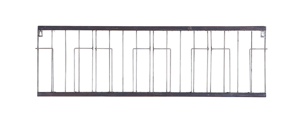 Mensola orizzontale nera 104x32cm FACTORY