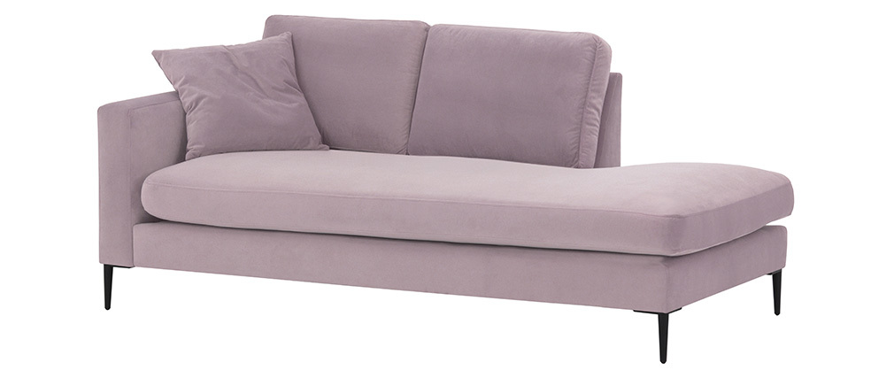 Meridiana in velluto rosa COZY