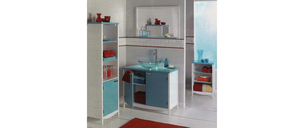 Mobile bagno tropic colore blu laguna miliboo for Mobile bagno blu