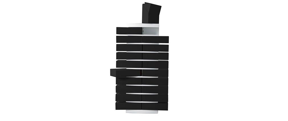 Mobile classificatore bianco design con 20 comparti di color nero