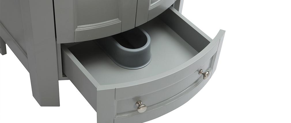 Mobile da bagno con vasca e cassetti grigio KLASI
