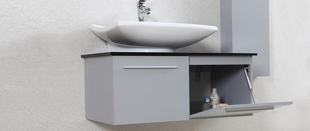Vasca Da Bagno Mobile : Mobile da bagno design laccato grigio opaco ...