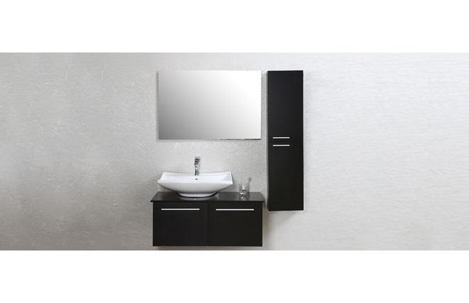Mobile da bagno design laccato nero opaco : mobile sottovasca, vasca ...