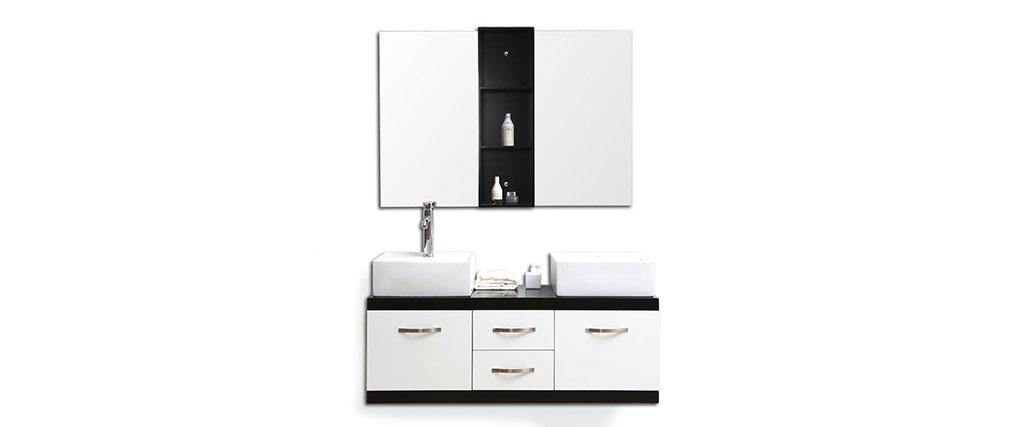 Mobile da bagno: doppia vasca, mobile sotto-vasca e specchio DOHAN