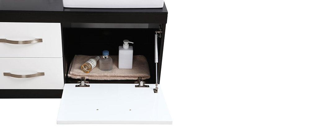 Mobile da bagno: doppia vasca, mobile sotto-vasca e specchio DOHAN - Miliboo
