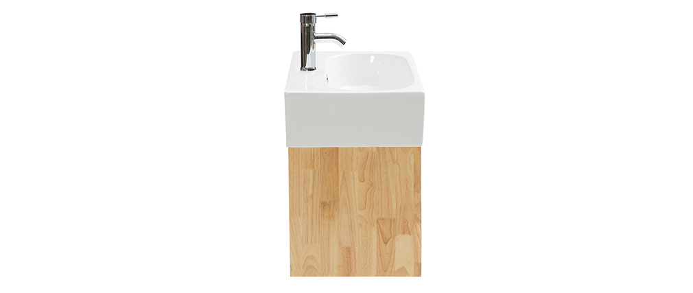 Mobile da bagno : lavabo mobile sottovasca e specchio EVAN