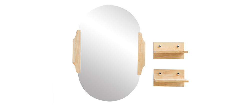 Mobile da bagno: lavabo mobile sottovasca mensola e specchio NIVAN