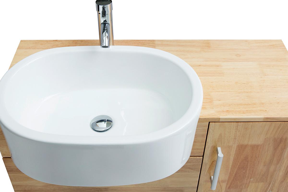 Mobile Sotto Mensola Bagno mobile da bagno: lavabo mobile sottovasca mensola e specchio