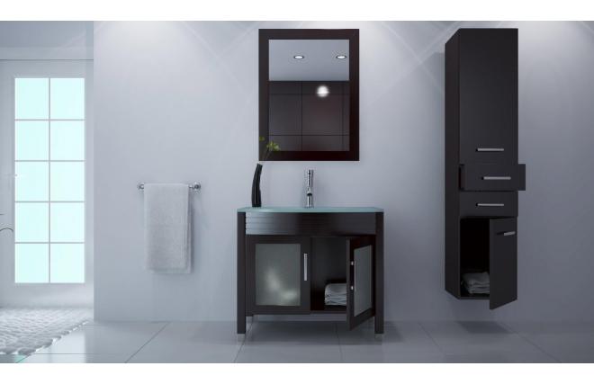 mobile da bagno lavabo mobile sottovasca specchio e colonna millo miliboo. Black Bedroom Furniture Sets. Home Design Ideas