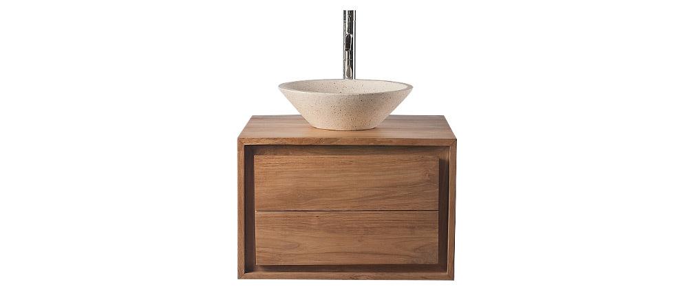 Mobile da bagno: mobile sottovasca teck et Vasca terazzo PEKKA