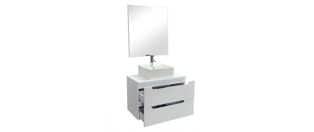 Mobile da bagno  , specchio e cassetti bianco (senza lavandino) LOTA