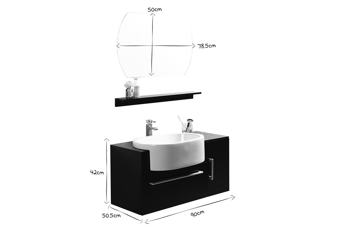 Mobile Sotto Mensola Bagno mobile da bagno sullivan nero : lavabo mobile sottovasca