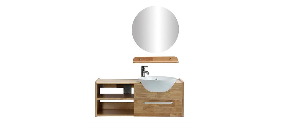 Mobile da bagno: vasca mobile sotto-vasca mensola e specchio EYTAN