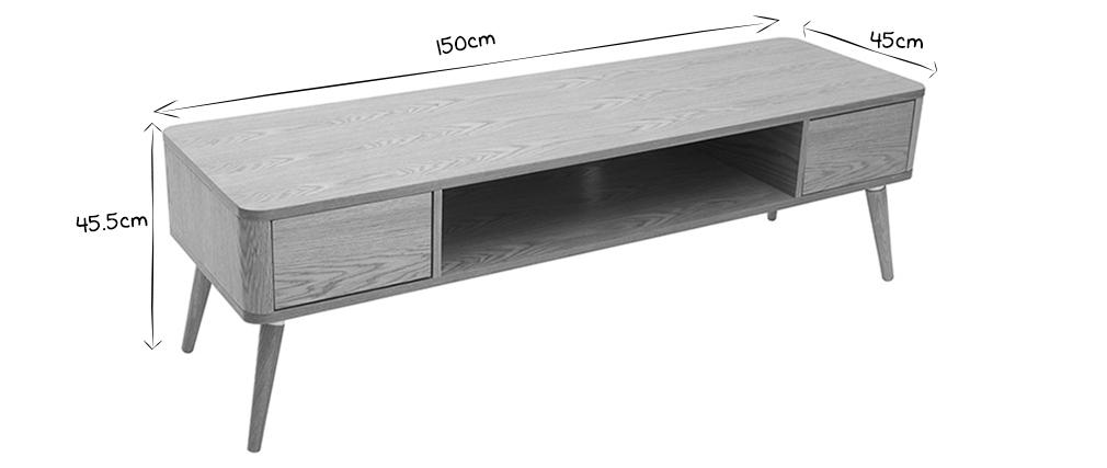 Mobile da TV design in quercia chiara TOTEM