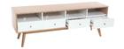 Mobile da TV scandinavo in legno Bianco HELIA