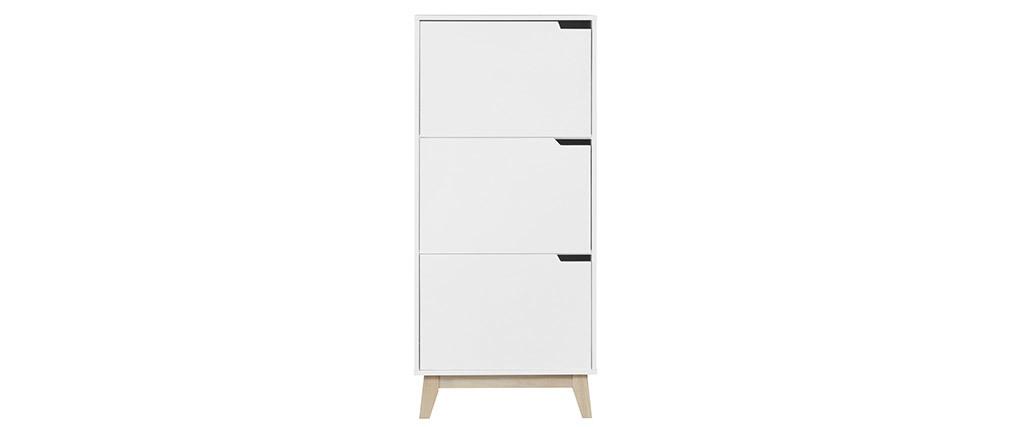 Mobile per riporre i propri oggetti design Bianco 3 ante LEENA