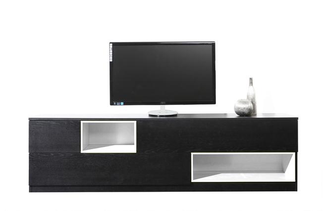 Mobile porta tv design bianco e nero modulare cubik zoom - Porta tv nero ...