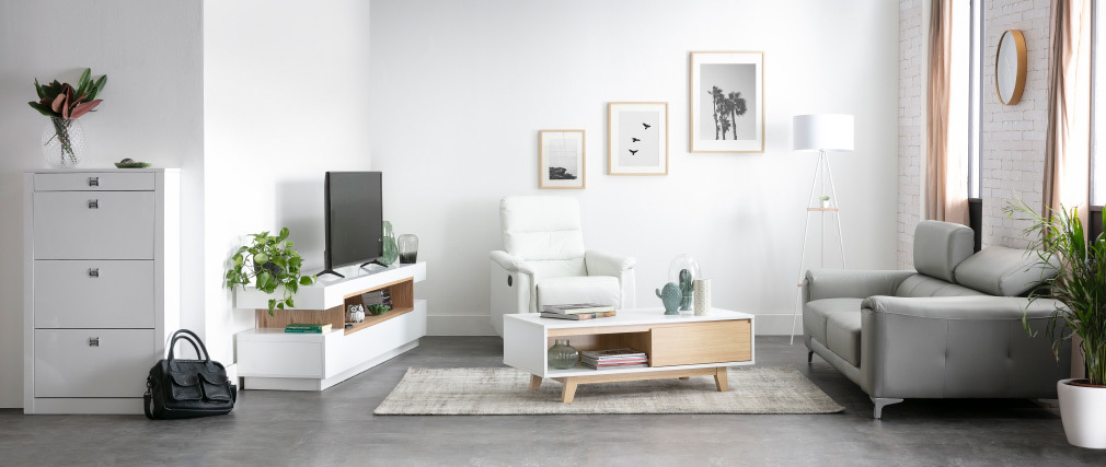 Mobile porta TV design laccato bianco LIVO