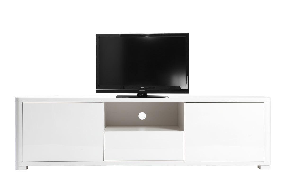 Mobile porta tv design laccato bianco pax miliboo - Porta tv bianco ...