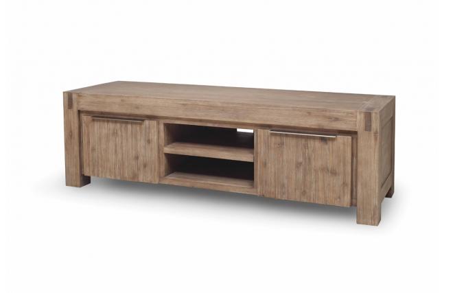 Mobile porta tv design legno massiccio grigio melbourne zoom - Mobile porta tv legno design ...