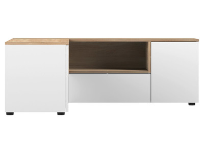 Mobile Tv Dangolo Design Legno E Bianco Quadra