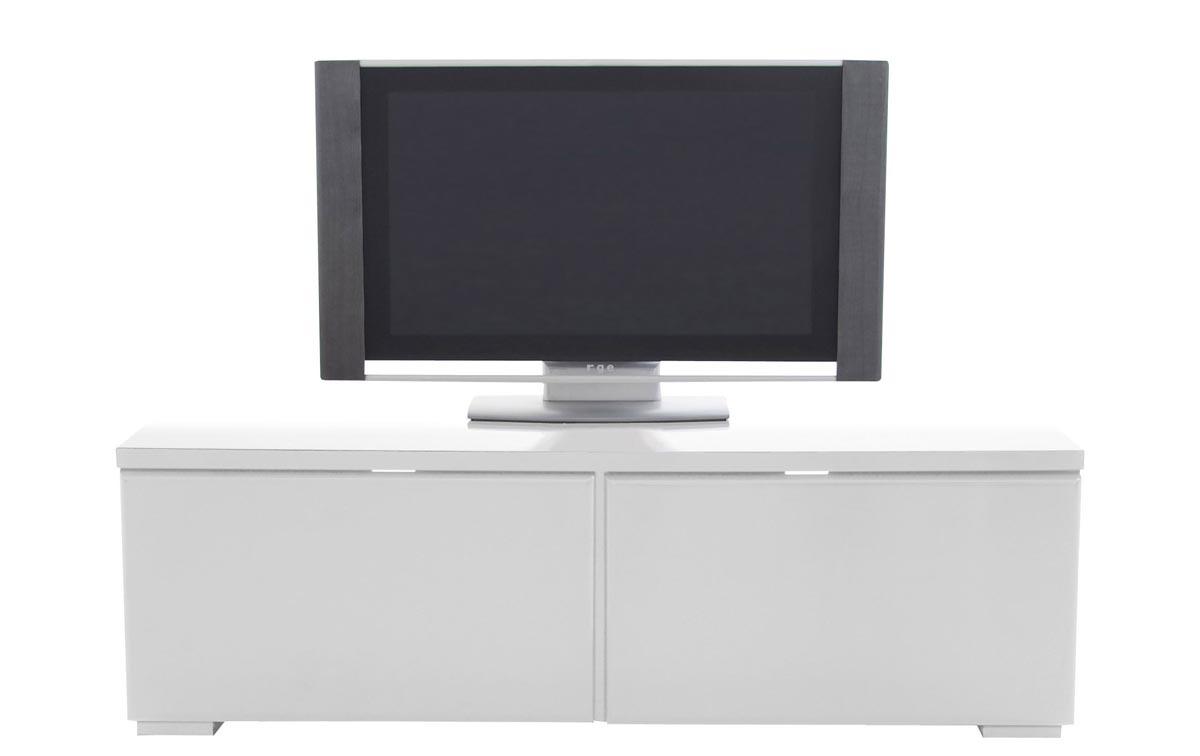Mobile TV design bianco lucido KENZA - Miliboo