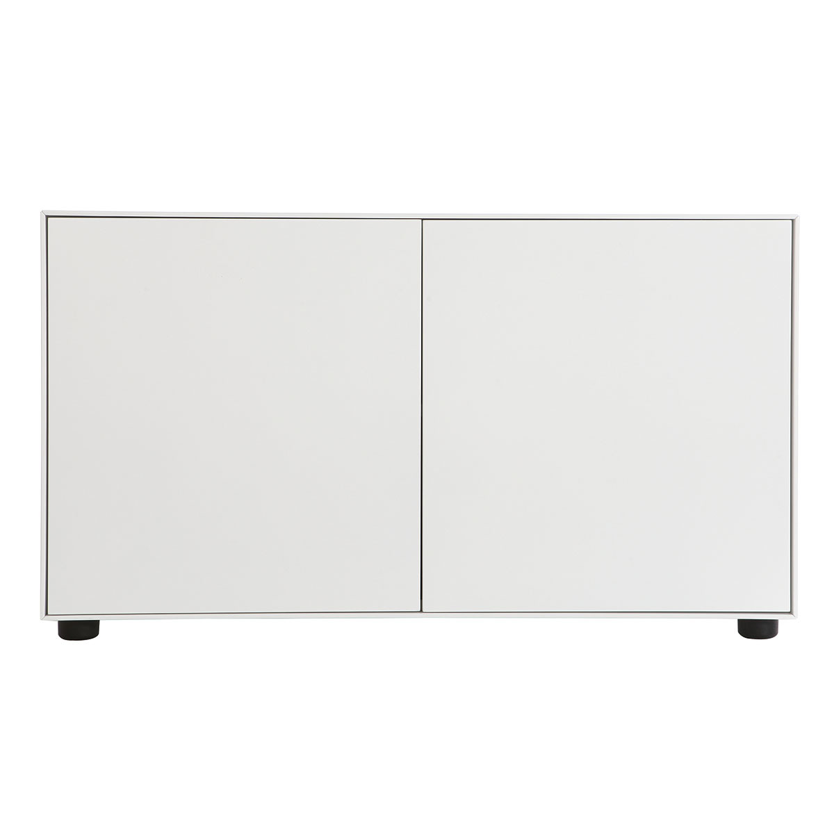 Mobile TV design bianco opaco 90x40cm 2 porte MARK