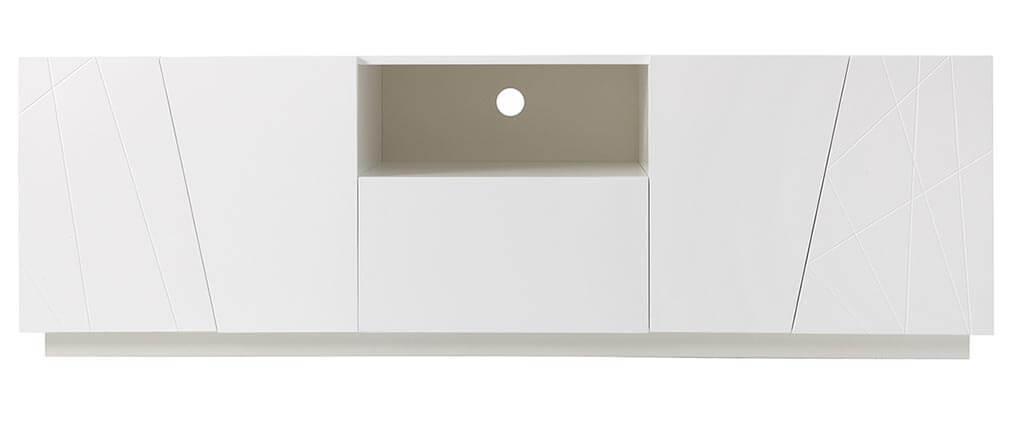 Mobile TV design bianco opaco ALESSIA
