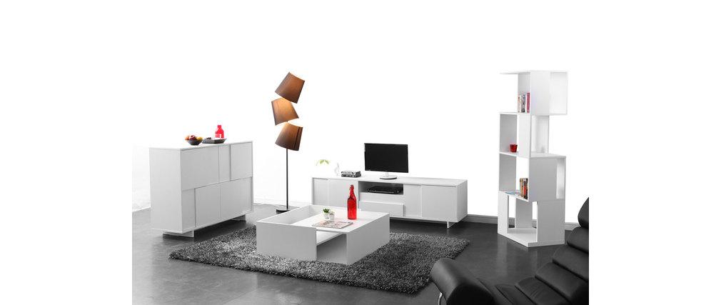 Mobile TV design bianco opaco KELIO - Miliboo