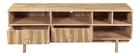 Mobile TV design in legno di mango e ottone ZAIKA