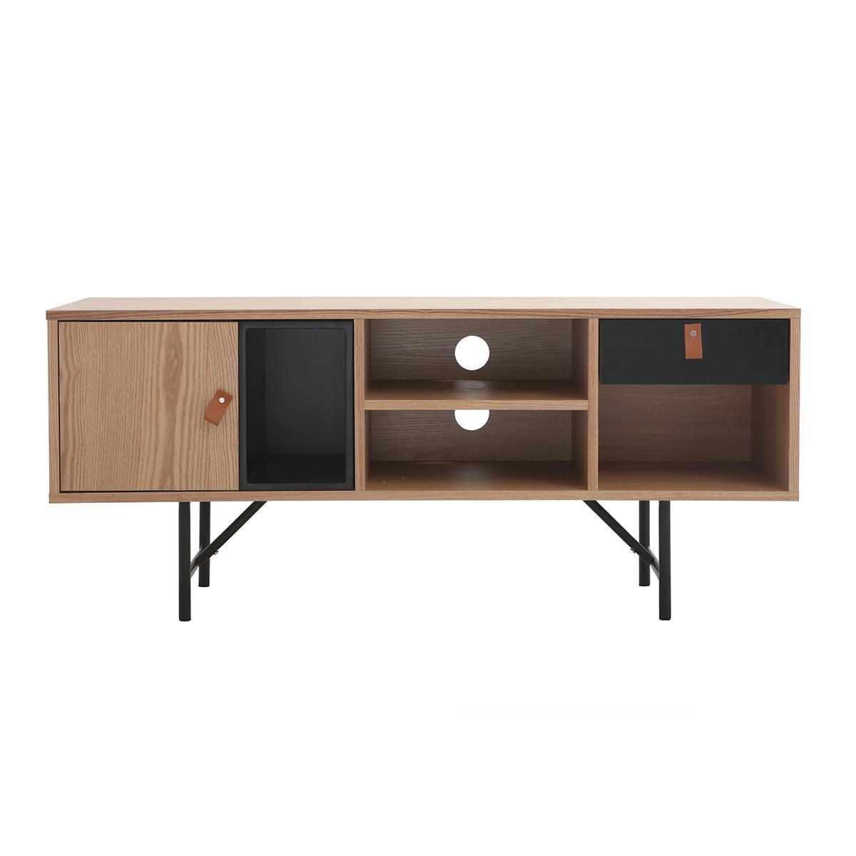 Mobile TV design in legno quercia Nero modello: OFICI