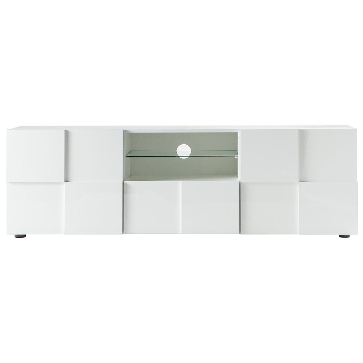 Mobile TV design laccato bianco 180 cm KUBE