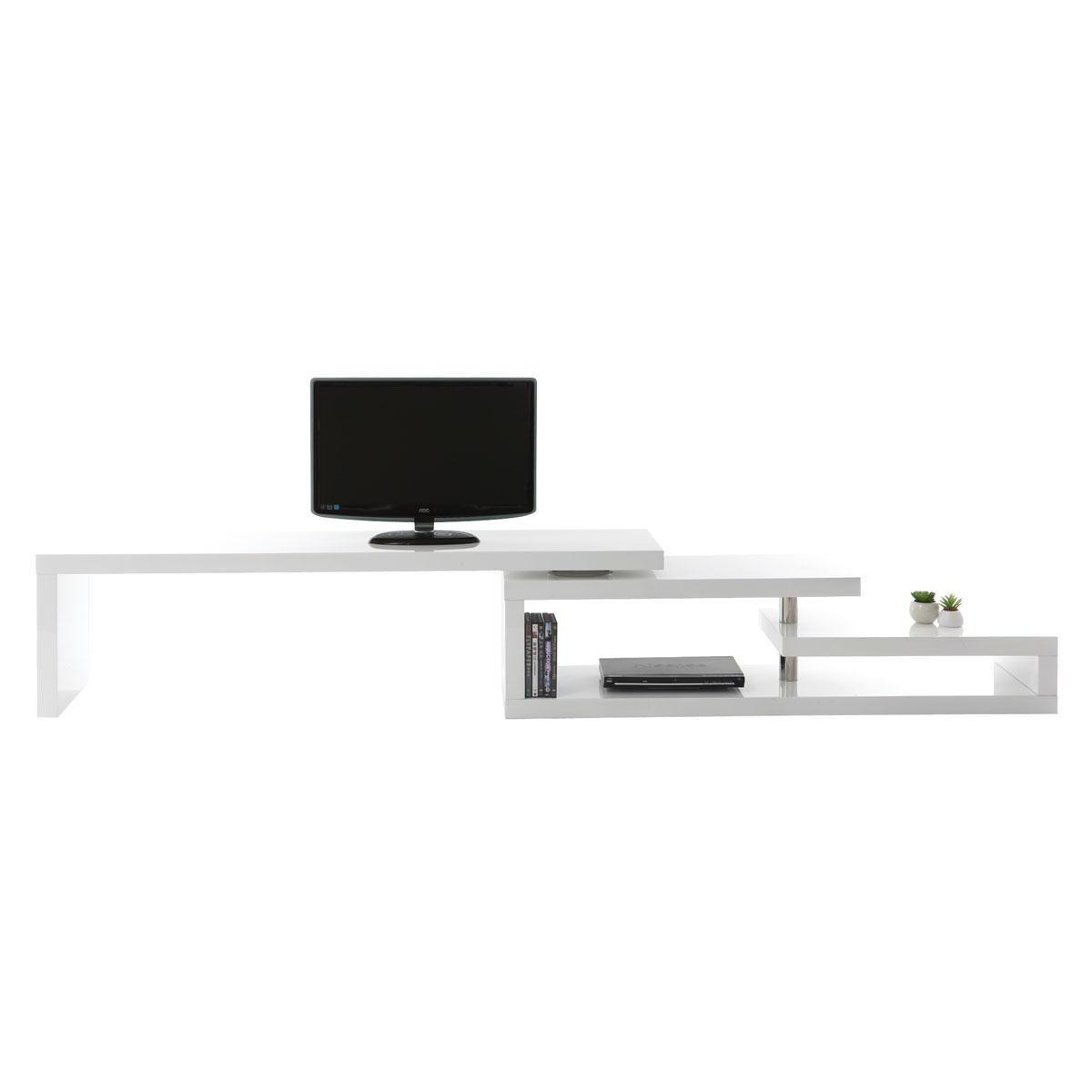 Mobile TV design laccato bianco girevole MAX V2