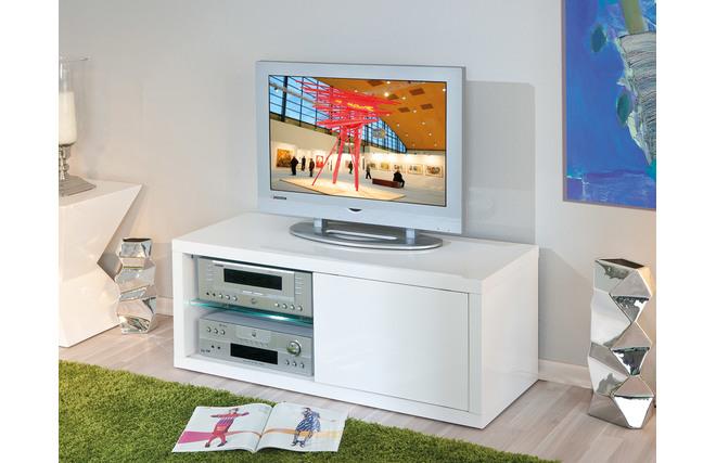 Mobile TV design laccato bianco LIGHT - Miliboo